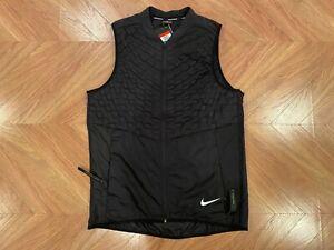 Nike Aeroloft Repel Lightweight Black Running Gilet Vest Men's Large 928501-010