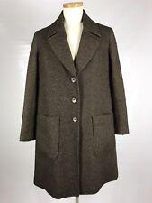 PERUVIAN CONNECTION Women Long Coat Medium Alpaca Wool Blend 3 Buttons