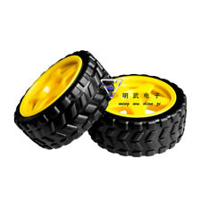Arduino Small Smart Car Model Robot Plastic Tire Wheel 65x26mm