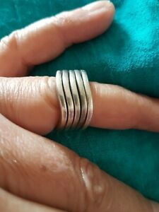 925 Silver, Very Rare Set of 5 Matching Rings
