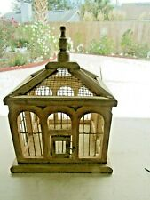 >>> FROM MY COLLECTION >>> ARCHED WINDOWS BIRD CAGE >>> WIRE & WOOD <<<
