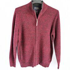 Pendleton Shetland Front Zip Wool Cardigan Sweater Mens M Burgundy New NWT $120