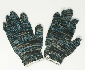 Multicolored Knit Glove Liners LARGE QTY 12 Pair