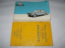 Catalogue / Carnet PEUGEOT 204 ENTRETIEN + RESEAU COMMERCIAL de 1966