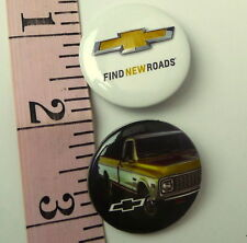 Chevrolet Pickup 1973 Gold Bowtie Emblem Lot of 2 Pins Chevy