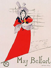 """""""May Belfort"""" by Henri de Toulouse Lautrec  Limited ed. Lithograph"""