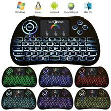 2.4Ghz Mini Wireless Keyboard with Touchpad 7 Colors for PC Android Smart TV PS4