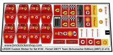 Lego Custom Pre-Cut Sticker for Set 8144 - Ferrari 248 F1 Team (Schumacher  Ed.)