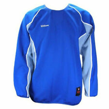 Wilson Mens Ls Pullover sweater Shirts Blue Sports Tee Size L