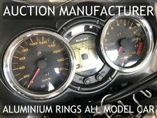 SUZUKI DL 650 V-STROM  Chrome Gauge Trim Dial Rings Polished Alloy New x2