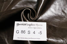 Bruins Brown Leather Cowhide Remnant - Appx 6 sqft G86S4-5