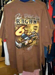 VINTAGE CFS NASCAR #6 UPS DAVID RAGAN BROWN TEE SHIRT ROUSH FENWAY 2XL XX LARGE