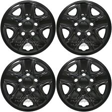 "4 Black Wheel Skins fit 2007-2018 Tundra 18"" Hub Caps Full Rim Covers Simulators"