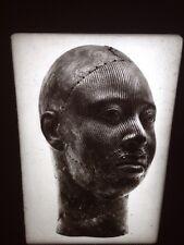 Ife Male Bronze Head: African Tribal Art Vintage 35mm Slide