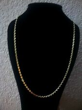 ITALIAN 14KT YELLOW GOLD OVER 925 STERLING SILVER FANCY MARINER CHAIN   20""