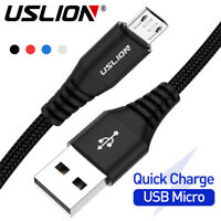 USLION 3A Micro USB Fast Charging Data Sync Cable for Android Samsung Huawei LG