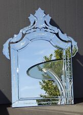 Venetian Style Floral Etched Wall Mantle MIRROR