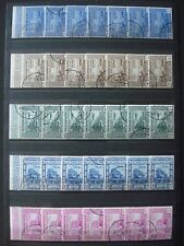 YEMEN 1951 AIR MAIL Mi. 132/138 x 7 SETS USED COT. 7 x 25 EUR (?) 2 SCANS