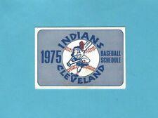 1975 Cleveland Indians Pocket Baseball Schedule