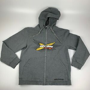 Ski-Doo X Team Zippered BRP Hoodie Men's size Medium Embroidered Logo