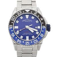 Armand Nicolet JS9 GMT Steel Auto Mens Watch Bracelet A486AGU-BU-MA4480AA
