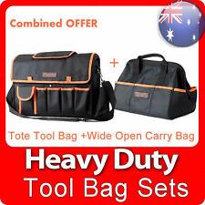 NEW Runda Heavy Duty Handyman Electrician Tote Carry Steel Handle Tool Bag Set