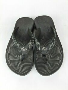 Chaco Ecotred Black White Flip Flop Sandals Kids Youth Size: 4