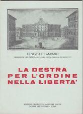 De Marzio, La destra per l'ordine nella libertà, 1975, politica, MSI, DN