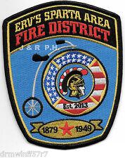 "Erv's Sparta Area Fire District, WI  (4"" x 5"" size) fire patch"