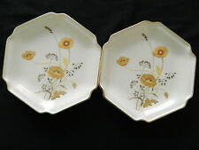 Otagiri Golden Poppy Six Sided Gold Edged Luncheon Plates - Made in Japan
