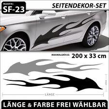 Burning Flame Cartattoo Auto Feuer Aufkleber Seitenaufkleber XXL . SF-23