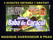 1 SAVON NATUREL BAVE D´ESCARGOT ANTI AGE RIDES ACNÉ TACHES CICATRICES VERGETURES