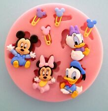 BABY DISNEY CHARACTERS SILICONE MOULD FOR CAKE TOPPERS, CHOCOLATE, CLAY ETC