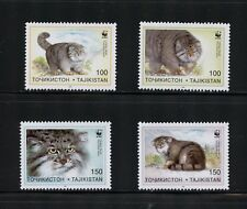 N104 Tadjikistan 1996 fauna WWF lynx cats 4v. MNH