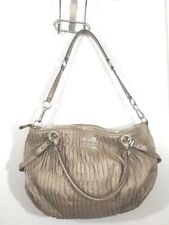 Coach Madison Gathered Leather Large Sophia Satchel Handbag 15947 Gold
