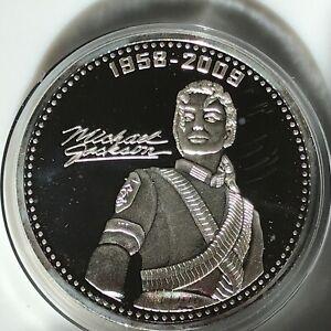 Rare Silver Micheal Jackson   Commemoration Medallion