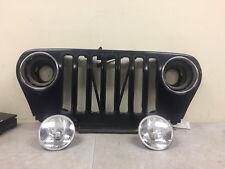 1997-06 Jeep Wrangler TJ LJ Grill Grille Dark Blue w/ IPF H4 Headlights