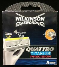 Wilkinson Sword Quattro Titanium Precision Razor Blades - Pack of 8 Top Quality