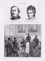 1873 - Antique Print PORTRAIT Lowry Corry Aosta Lambeth Palace Canterbury (148)
