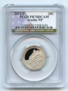 2012 S 25C Clad Acadia Quarter PCGS PR70DCAM