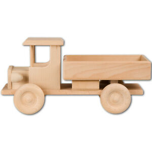 Hofmeister Lastwagen aus Buchenholz 32cm Holzauto Spiezeugfahrzeug LWK Truck
