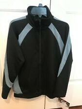 CLOSEOUT GK ELITE FULL ZIP RELAXED WARM-UP JACKET CHILD CS CM CL BLACK/BLUE POLY