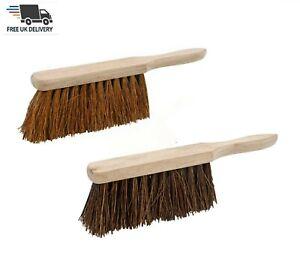 "Hand Brush Soft Coco Bristle & Stiff Hand Brush 12"" Sweeping Broom Choose"