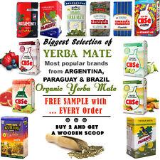 YERBA MATE TEA CBSe, Pajarito, Amanda, Kurupi, Herbal, Guarana, Energy Booster