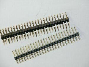 2pk - 25 x 2 Header Pins - Right Angle