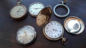 Konvolut Vintage Swiss Taschenuhren als Ersatzteile ( Defekt )