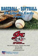 Spc/Glover's Baseball/Softball Lineup Cards B&S-20