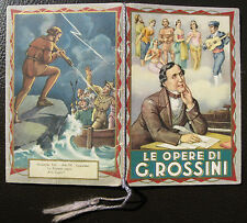 CALENDARIETTO da BARBIERE - ANNO 1940 - LE OPERE DI G. ROSSINI