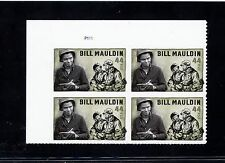 US  4445  Bill Mauldin 44c - Plate Block of 4 - MNH - 2010 - P1111  UL