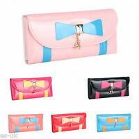 Womens / Ladies / Girls Faux Leather Gloss Purse Pink Black Red Blue